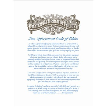 Law Enforcement Code of Ethics Certificate