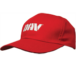 Red Structured Cap
